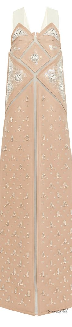 DELPOZO● SS 2015, Pink Washed Twill Gown * ♔LadyLuxury♔