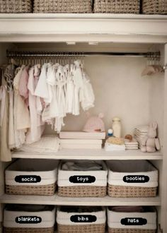 Organized baby nursery closet ideas