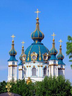 St Andrew's Church, Kyiv, Ukraine.