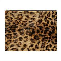 d4764de143 Leopard Fur Print Cosmetic Bag Pencil Case Multi Purpose ... https