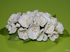Crenguta de flori de cires dintr-un porțelan rece |  Masters Târg - manual, manual