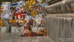 #india #bodhgaya #travel #places #pilgrim #prayer #monk #people #photographer #photography #color #prayerflags
