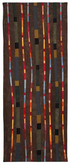 Valerie Maser-Flanagan. Fiber Artist. Between the Dark Spaces Shines the Light. 45 x 18 inches.