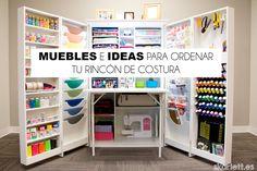 Échale un vistazo a estas ideas y muebles para mantener ordenado tu rincón de costura