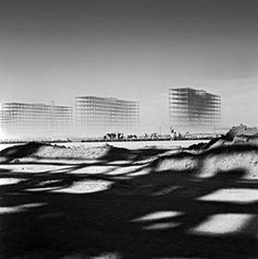 MARCEL GAUTHEROT. Ministries under construction, Brasília, DF. Brazilcirca 1958