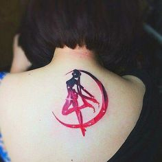 Sailor moon back tattoo