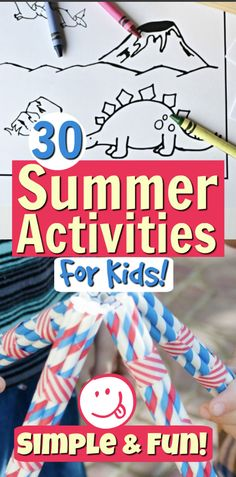 We only have 18 summers with our kids. Let's make them count! Summer activities don't have to be extremely complicated, but they should be extremely fun! Simple crafts, activities and recipes are what help create an amazing summer that's packed with whimsical memories! Ready to give your child an awesomer-than-awesome summer? Check out this HUGE list of ideas! #summer #activities #summeractivities #summerfun #kidactivities #kids #family Father's Day Activities, Summer Activities For Kids, Summer Kids, Summer Arts And Crafts, Simple Crafts, Business For Kids, Awesome, Amazing, Child