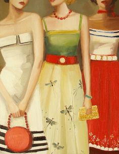 French Dressing - Janet Hill Her work makes my heart smile it's so sweet.  www.janethillstudio.com