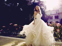"Ball Gown Wedding Dresses : The ""Magnolia"" wedding gown from Lauren Elaine Bridal. Red Wedding Dresses, Wedding Gowns, Tulle Wedding, Perfect Wedding, Dream Wedding, Magnolia Wedding, Dream Dress, The Dress, Wedding Bells"