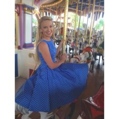 Polka Dot Dress Vintage 1950's style polka dot dress, worn once for dapper day at Disney! In perfect condition  Dresses