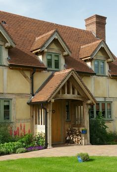 Details about Oak Porch, Doorway, Wooden porch, CANOPY, Entrance ...