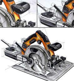 查看此 @Behance 项目: \u201cIndustrail Design Sketch & Marker Rendering Tutorial\u201d https://www.behance.net/gallery/46894545/Industrail-Design-Sketch-Marker-Rendering-Tutorial