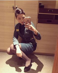 いいね!345件、コメント1件 ― ‍ AFA since May 2016さん(@asianflightattendants)のInstagramアカウント: 「Follow ✈️ @asianflightattendant at @evaairways with @sunshineee0906 …」 Military Police, Cabin Crew, Flight Attendant, Tights, Glamour, Lady, Instagram Posts, Model, Kpop