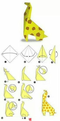 Origami-Giraffe Origami Ideen You are in the right place about DIY Origami how to make Her Origami And Kirigami, Origami Ball, Origami Folding, Paper Crafts Origami, Origami Ideas, Oragami, Origami Patterns, Paper Folding, Origami Giraffe