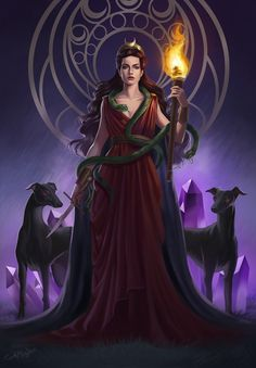 of November, for worshippers of the Greek Goddess Hecate, is a very special night. This night i Hecate Goddess, Moon Goddess, Greek Goddess Art, Lillith Goddess, Celtic Goddess, Greek Gods And Goddesses, Greek Mythology, Pagan Witch, Witches