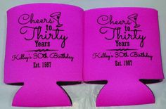 30th Birthday party favors can coolers 1121959497