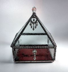 Stained Glass Lace Jewelry Box by SisterArtGlass on Etsy