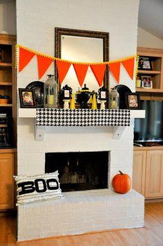 Halloween decorations : IDEAS & INSPIRATIONS My Halloween Mantel
