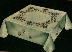 vintage embroidered tablecloth by april-mo, via Flickr