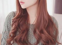 Korean red-brown natural hair lover