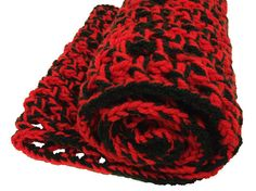 Handmade crochet Irish wool infinity scarf by MayFlyEtsyShop