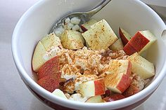 apples, cinnamon, cottage cheese
