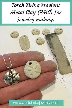 Working with PMC (precious metal clay) and torch firing it, silver smithing, jewelry making tutorial. DIY jewelry making