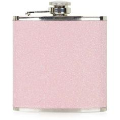 TOPSHOP Pink Glitter Hip Flask (28 AUD) ❤ liked on Polyvore featuring home, kitchen & dining, bar tools, accessories, fillers, misc, pink, items, topshop and pink flask