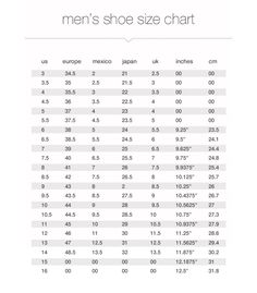 447b3bc40a 18 Best Shoe Size Charts images in 2019 | Shoe size chart, Charts ...