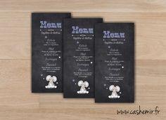 Menu baptême, mariage, anniversaire, communion, noces - Fichier Imprimable - n°18 : Autres papeterie par cashemir