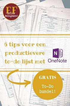 6 tips voor een productievere to-do lijst met OneNote   EF Office Management