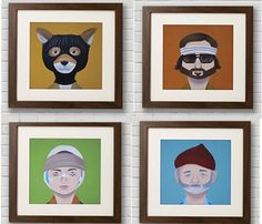 Wes Anderson Prints .. These would be so awesome on the entertainment room!