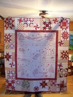 christmas quilts | Thread: Redwork Christmas Quilt. I have this pattern somewhere....I know...