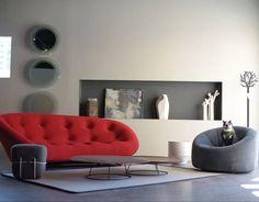 Ploum sofa and Pumpkin armchair from Ligne Roset www.lignerosetsf.com #LiveBeautifully