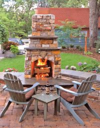 Nice stand-alone outdoor fireplace...  (Photo courtesy of Otten Bros.)