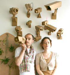Cardboard surveillance cameras - filez-doux-1