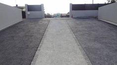 Descente de garage en béton perméable poreux drainant coloré à Beauzelle
