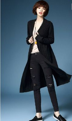 Womens Black Cozy Soft Long Duster Sweater Cardigan (OS) #Dillynnmiles #Cardigan
