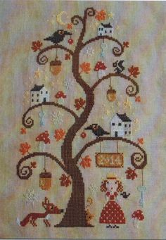 Autumn Tree - Cross Stitch Pattern