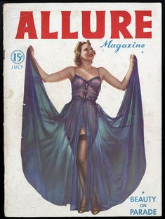 Complete July 1937 Vol. 1, No. 1 Allure Magazine Carole Lombard, Pin-Up Photos