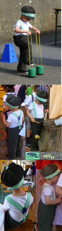 Pantalon et chapeau pour Malou et sa première fête d'école sur le thème rétro…