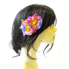 Double Rainbow Rose Flower Hair Comb Headpiece Rockabilly Pride Floral... ($6.83) ❤ liked on Polyvore featuring accessories, hair accessories, decorative combs, grey, floral hair accessories, hair comb accessories, flower hair accessories, rockabilly hair accessories and wide comb
