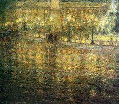 Henri le Sidaner (1862-1939). Oil painting