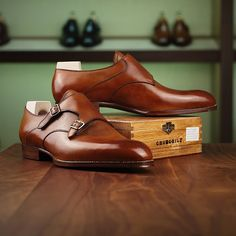 Saint Crispins med brown double monk in Yorkville (Toronto) at Leather Foot