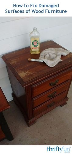 How to Fix Damaged Surfaces of Wood Furniture Wood furniture can get damaged in a number of ways. This is a guide about how to fix damaged surfaces of wood furniture. The post How to Fix Damaged Surfaces of Wood Furniture appeared first on Wood Diy. Restore Wood Furniture, Cleaning Wood Furniture, Furniture Cleaner, Furniture Repair, How To Clean Furniture, Diy Furniture Projects, Repurposed Furniture, Furniture Makeover, Furniture Stores