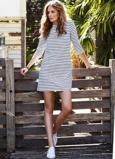 La robe rayée, aussi indispensable que la marinière !