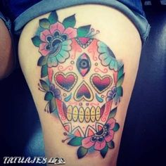 In at the moment's put up we're going to current you with a sequence of pictures with cranium tattoos. Mexican Skull Tattoos, Mexican Skulls, Sugar Skull, Tatting, Amazing, Surf, Ideas, Colorful, Sugar Skull Tattoos