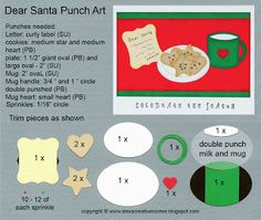 Alex's Creative Corner - Dear Santa punch art crad imstructions