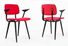 12 Revolt dinner chairs from the forties by Friso Kramer for Ahrend de Cirkel