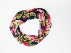 Amtal Women Lightweight Soft Casual Roses Pattern Infinity Scarf